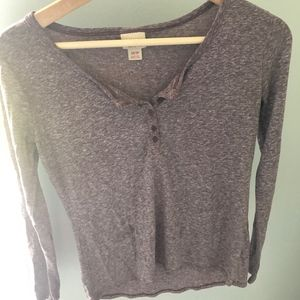 Grey/purple long sleeve